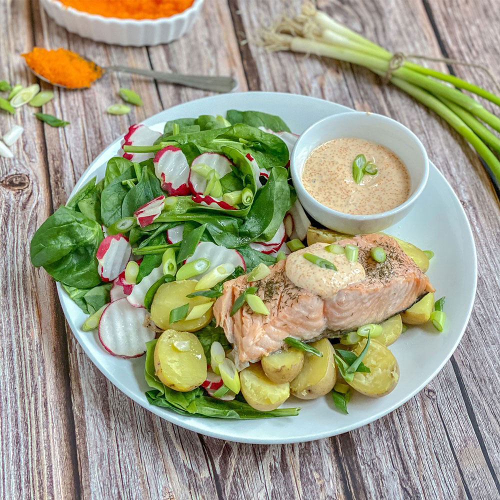 Body by Pauline Meal Diet Plan Salmon and Veggies