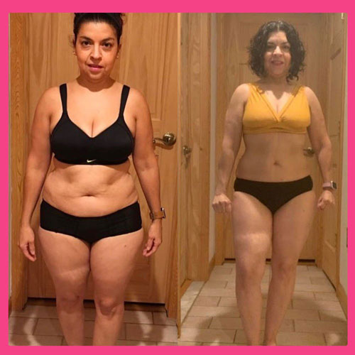 Women's Results after Body By Pauline Diet Plan